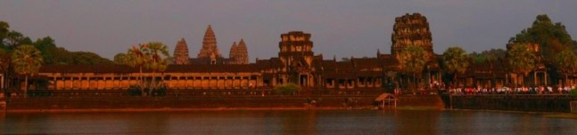 Angkor Wat west side sunset