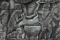 Angkor bas relief pig for dinner