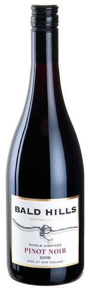 Bald Hills Pinot Noir 2008, Bannockburn, Central Otago, New Zealand