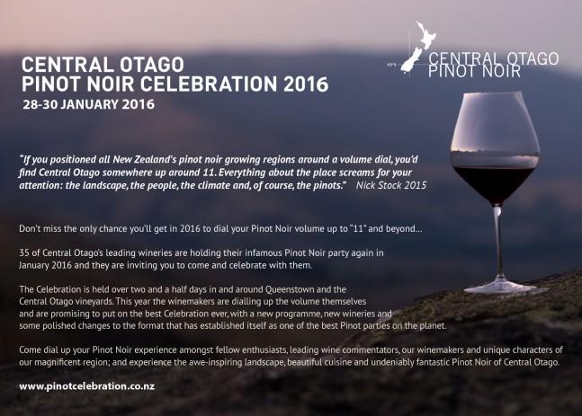 Central Otago Pinot Noir Postcard 2016