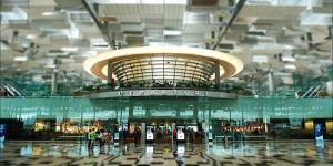 Changi Airport T3 departures - Cyrstal Jade Restaurant above