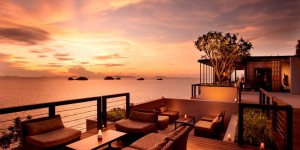 Conrad koh Samui Sunset at Aura Lounge