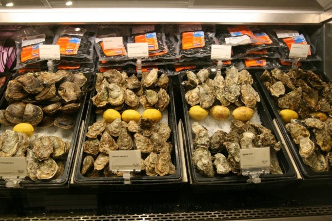 Culina display oysters