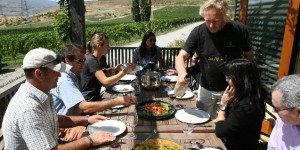 The is no better vineyard lunch table than sitting down with the crew at Felton Road and Nigel Greening knocking up one of his fantastic goat curries and fresh vegetables striaght out of the Felton Road vineyard garden - and of course a glass of pinot noir