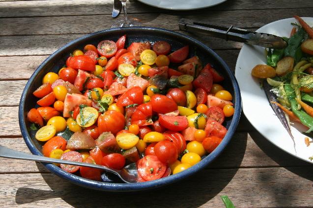 Nigel Greening's zero food miles heirloom tomato salad