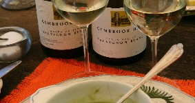 Gembrook Sauvignon Blanc and Cold Pea Soup