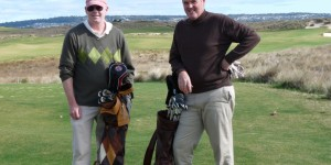 Golfer's Palate - Peter Bessey (left) with Mike Clayton