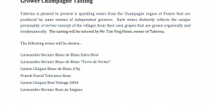 Grower Champagne Tasting 14th July 2012