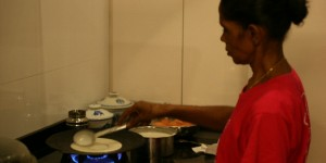 Mari making Thosai