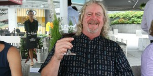 Legendary Californian winemaker Jim Clendenon - Au Bon Climat - in vintage form lunching in Singapore