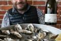 Marcel Giesen at Cafe Zuni - Oysters and Giesen The Fuder Sav Blanc Lres