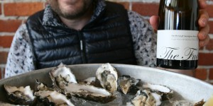 Marcel Giesen at Cafe Zuni - Oysters and Giesen The Fuder Sav Blanc Lres