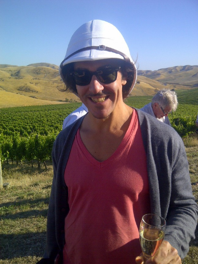 Australian Master of Wine, Ned Goodwin, (AKA Red Ned) looking very much the part