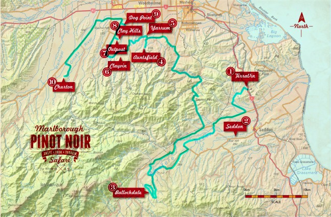 The Marlborough Pinot Noir Safari Route