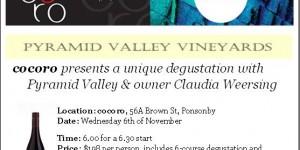 Coroco http://cocoro.co.nz/  Pyramid Valley Vineyards http://pyramidvalley.co.nz/
