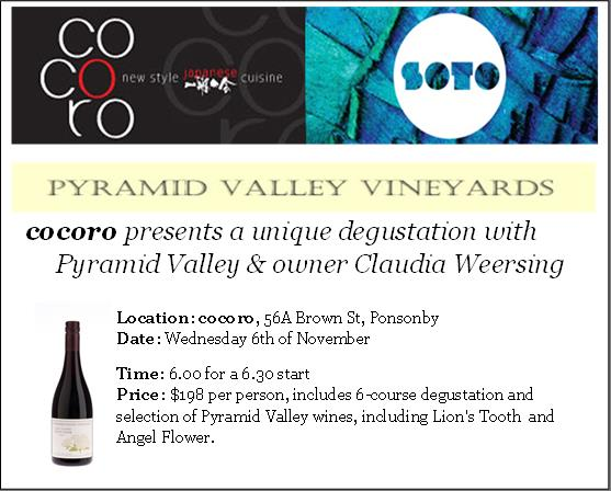Coroco http://cocoro.co.nz/ Pyramid Valley Vineyards http://pyramidvalley.co.nz/