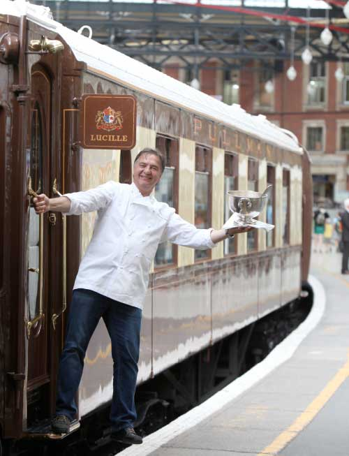 Chef Raymond Blanc on the Orient Express Northern Belle