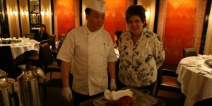 Legendary Chef Ruth Pretty at Imperial Treasure Super Peking Duck with our Chef Wudang Swordsman Chef