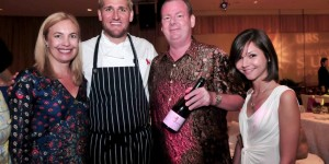 Dug this out of the Wandering Palate picture files - Proprietor of Sugarloaf Ridge, Kristin Colville with Chef Curtis Stone and the Wandering Palate - Sugarloaf served up at the Singapore Sun Festival