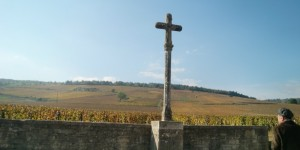 Shalom Burgundy Blog - A man whos knows the wines or DRC is paying homage to The sacred Cross of Romanee Conti