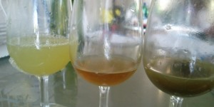 From Left to Right - freerun - clear juice - juice with lees