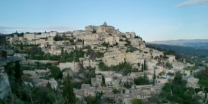 The village of Gordes reminiscent of a fortified citadel from that of the Lord of the Rings