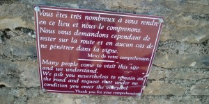 Shalom burgundy blog - Romanee Conti - look but don't touch
