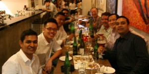 Singapore Sommeliers enjoying a cleansing Three Boys IPA Ale - or two