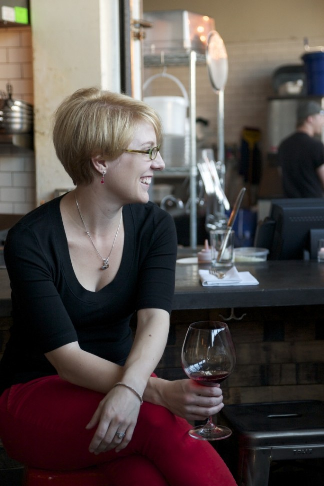 Stacey Gibson, Sommelier at Olympic Provisions, Portland, Oregon