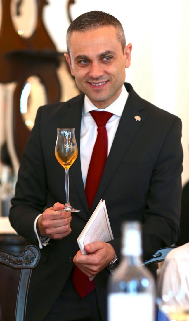 Sommelier Stephane Soret, Wine Director at Raffles, Singapore