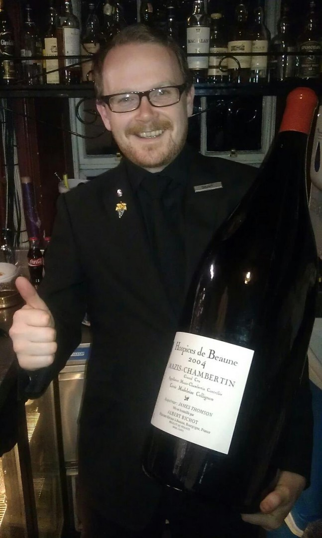 Stuart Skea Sommelier at 21212 Restaurant, Edinburg, Scotland