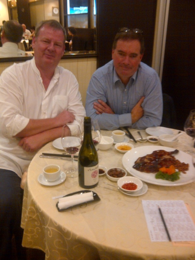 Tim Kirk and the Wandering Palate at Jade Palace Seafood Restaurant - Clonakilla Shiraz Viognier is absolutely sublime with Chinese Roast Duck!