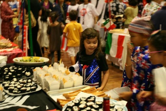 UWC UN Food Festival New Zealand stand