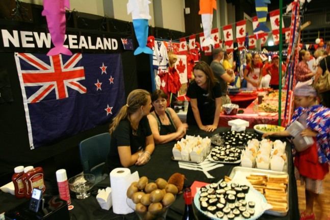 UWC UN Food Festival New Zealand crew