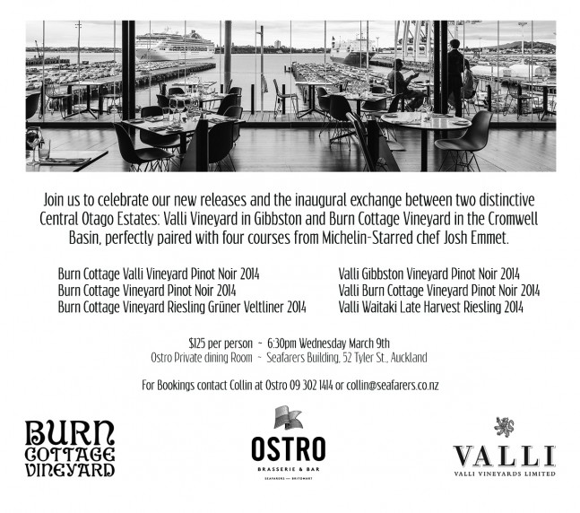 Valli & Burn Cottage Ostro Dinner