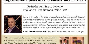 Wine list of the Year Thailand Trade Registration Flier April 2013