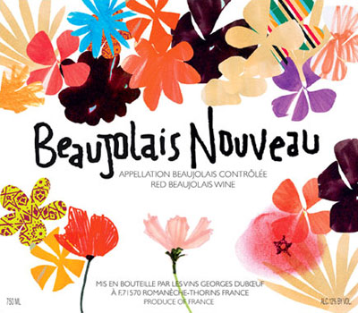 Beaujolais 2009 Peace and Love label, France