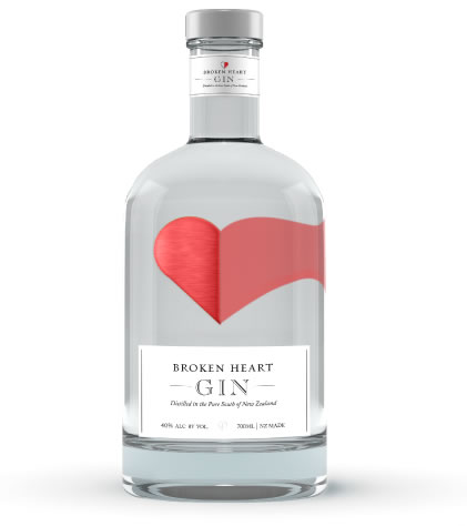 Broken Heart Gin, from the Southern Alps of New Zealand