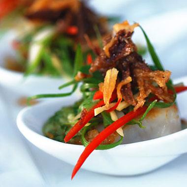 Crispy Salmon, Sarong Bali