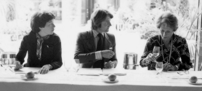 Patricia Gallagher, Steven Spurrier & Odette Kahn 1976 tasting in Paris