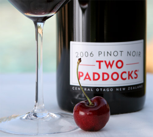Pinot Noir 2006 Two Paddocks bottle label