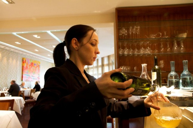 Sara Bachiorri, Sommelier at Chez Bruce Restaurant,London