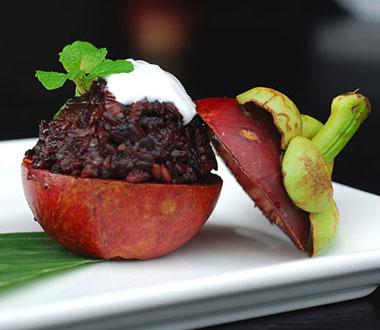 Sarong Restaurant dessert, Bali Indonesia