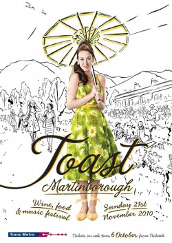 Toast Martinborough Event Poster 2010