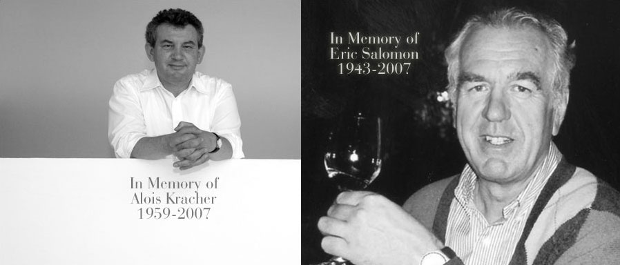 In Memory of Alois Kracher and Eric Salomon