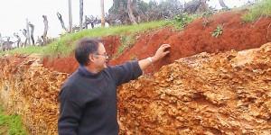 Highbank Vineyard Terra Rossa soil, Australia