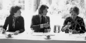 Patricia Gallagher, Steven spurrier & Odette Kahn 1976 tasting in Paris